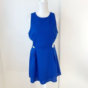 Forever 21 Blue Dress with Cutouts Size Large {BS}